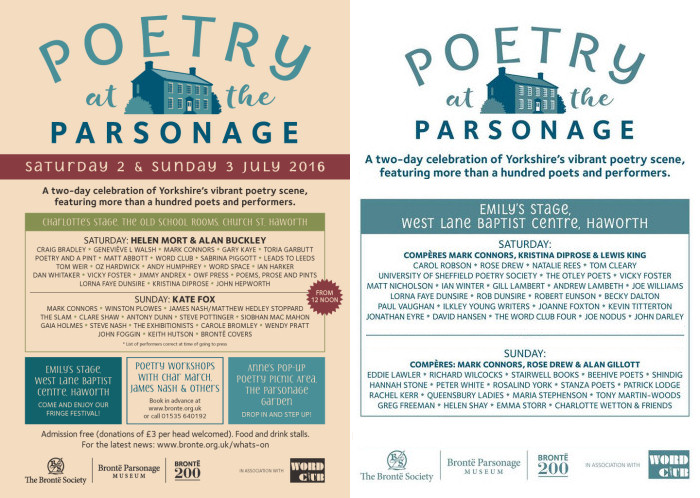 Poetry at the Parsonage